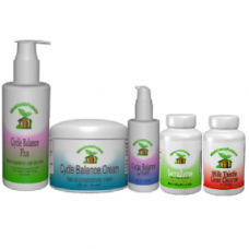 Cycle Balance Cream with Natural Progesterone Cream, infertility cleanse and Serrazyme